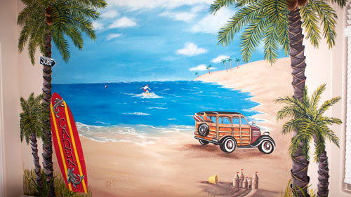 Skywoods decorative painting faux finishing murals phoenix az for Beach mural painting