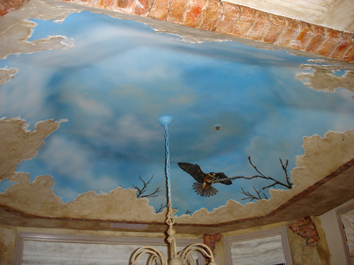 Skywoods decorative painting faux finishing murals phoenix az for Ceiling mural painting techniques