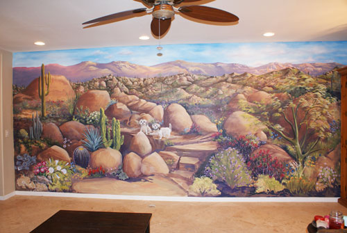 Skywoods decorative painting faux finishing murals phoenix az for Desert wall mural