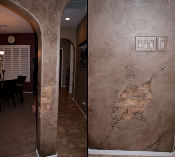 Faux Brick And Plaster Wall: Skywoods Decorative Painting Faux Finishing Murals Phoenix AZ